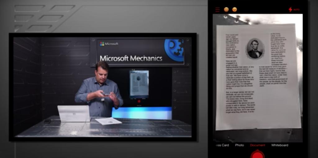 Video screenshot shows original, difficult-to-read text.
