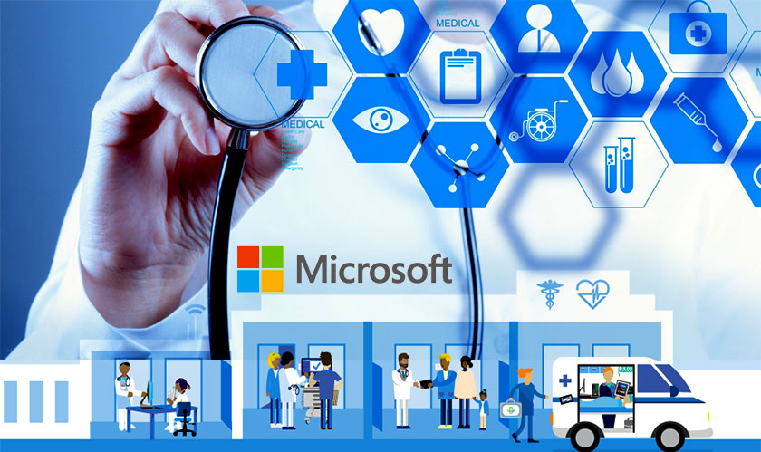 Image shows Microsoft's role in healthcare, one of the top Microsoft Build announcements.