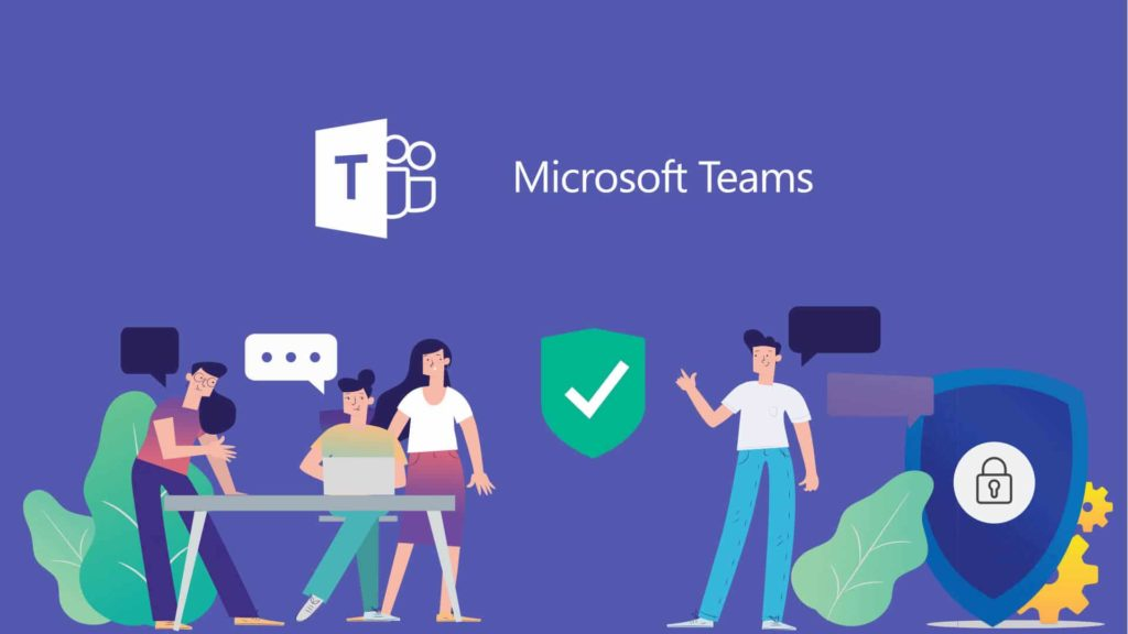 Image depicts the convenience of employee collaboration with Microsoft Teams.